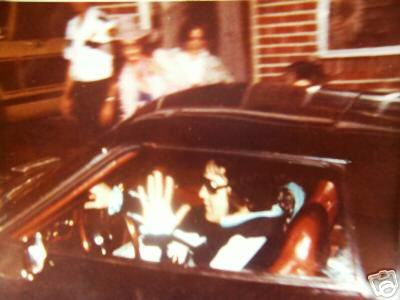 The last photo of Elvis ever taken in his car.