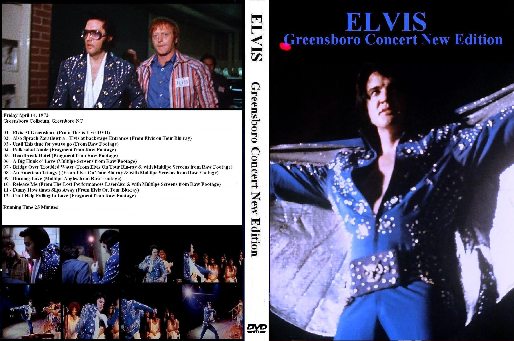 Resultado de imagem para Elvis GREENSBORO CONCERT dvd